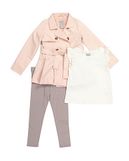 Baby Girls 3pc Spring Trench Coat Set