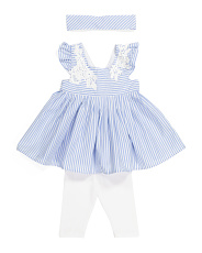 Baby Girl Striped Tunic & Capri Legging Set