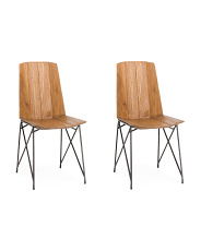 Set Of 2 Solid Teakwood Chairs