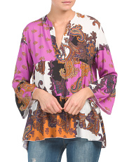 Made In Italy Printed Blouse