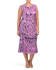 Plus Hand Embroidered Soutache Dress