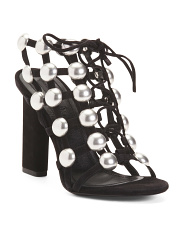 Premium Suede Studded Gladiator Sandals