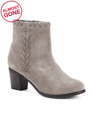 Whipstitch Suede Booties