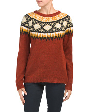 Jacquard Patterned Pullover Sweater