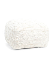 Wool Loop Textured Pouf