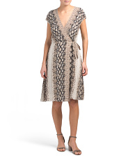 Bethwyn C Snake Wrap Dress