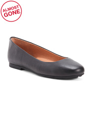 Leather Comfort Ballet Flats