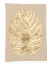 20x28 Metallic Leaf Wall Art