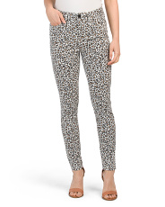 High Rise Leopard Printed Skinny Jeans