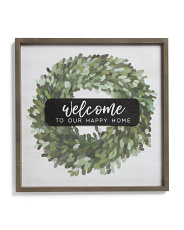 20x20 Welcome Wall Decor
