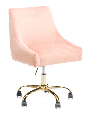Kelsey Velvet Office Chair