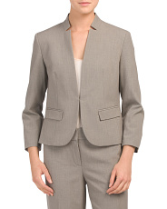 Stretch Notch Collar Jacket