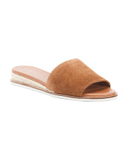 Suede Demi Wedge Slides