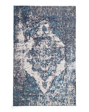 5x8 Vintage Medallion Low Pile Rug