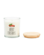 10.5oz Merry Christmas Winter Pine Candle