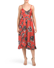 Brushstroke Floral Midi Dress