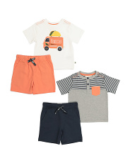 Baby Boys 4pc Taco Short Set