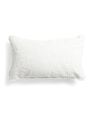 14x24 Indoor Outdoor Embroidered Coral Pillow