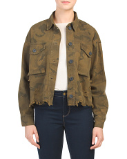 Juniors Camo Military Jacket