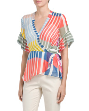 Color Block Stripe Taylor Top