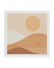 20x20 Forget Me Abstraction Sun And Mountains Wall Art