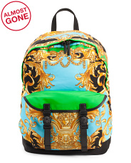 Made In Italy Barocco Medusa Head Backpack