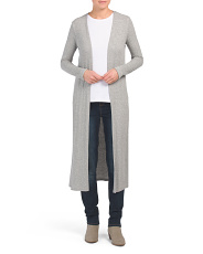 Made In Usa Ribbed Duster Cardigan