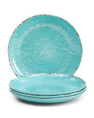 Set Of 4 Outdoor Melamine Appetizer Plates