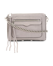 Avery Suede And Leather Crossbody