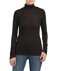 Knit Turtleneck With Button Detail