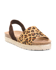 Made In Spain Slingback Leather Espadrilles