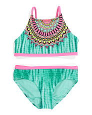 Girls Medallion De Effect Two-piece Swimsuit