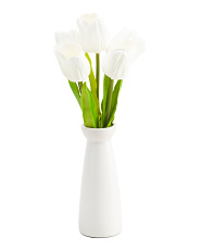 17.5in Tulip In Ceramic Vase