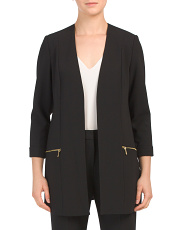 Long Stretch Crepe Blazer