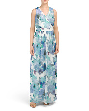 Brianna Chiffon Floral Maxi Dress