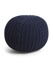 Majestic Knit Pouf