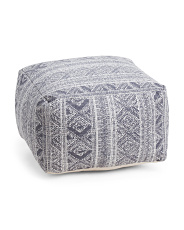 Distress Printed Pouf