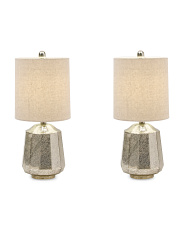 Set Of 2 21in Mercury Glass Lamps