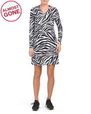 Upf 50 V-neck Zazu Animal Printed Dress