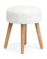Faux Fur Round Stool