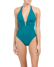 Hardware Plunging One-piece Swimsuit
