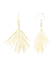 Leafy Palm Drop Earrings