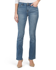 High Waist Skinny Bootcut Jeans