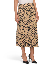 Leopard Flared Skirt