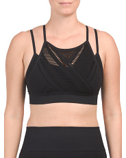 Made In Usa Quintessential Laser Cut Strappy Bra