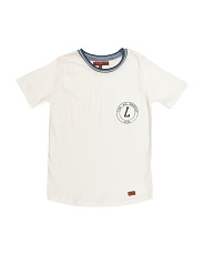 Big Boys Baseball Hem Long Tee