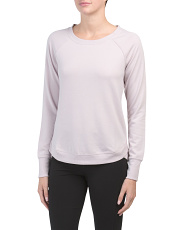 Terry Brushed Long Sleeve Top