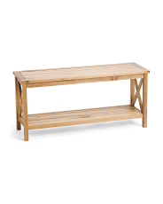42in Teak Look Bench