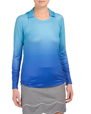 Golf Ombre Ruched Pullover Top