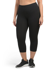 Plus Cotton Span Tummy Control Capri Leggings